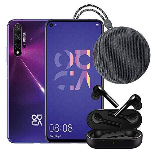 Foto Huawei Nova 5T (Purple) Smartphone + Speaker Bluetooth + FreeBuds Lite Cuffie...