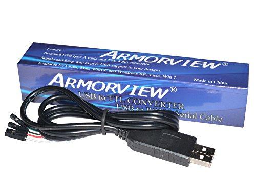 GAOHOU® USB zu RS232 TTL TTL UART PL2303HX Auto Konverterkabel 4 Poligen Pin Stecker -
