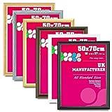 50x70 cm Size Picture Photo Frame Round -D Shape Moulding -Various Colours-4Ever4less (GOLD, 50x70 CM-ROUND-D Shape)