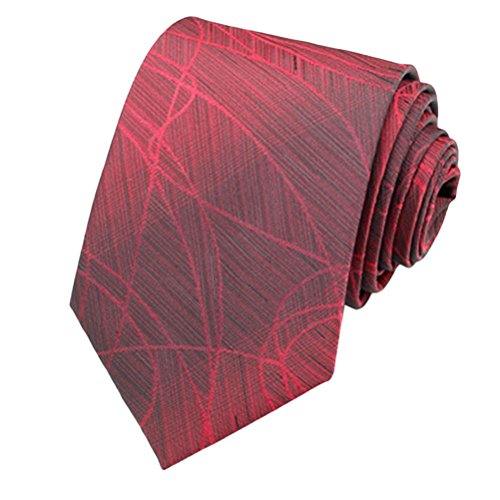 Zhhlinyuan Corbata Hombre roja blanca Multicolores Moda Clasica Elegant Neck Tie 8cm Business Necktie for Men for Husband for Wedding Party - Perfect Gift Various Colors & Styles