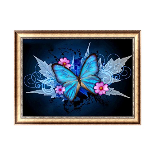 Rawuin Butterfly 5D Diamond Embroidery Painting Art Cross DIY Stitch Craft Decoration (#206)