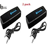 Loyal EMPLE® USB Car Bluetooth Stereo Adapter Audio Receiver, HiFi Dongle Transmitter,3.5mm Music Wireless USB MP3 Car Speaker.(2 Pack)