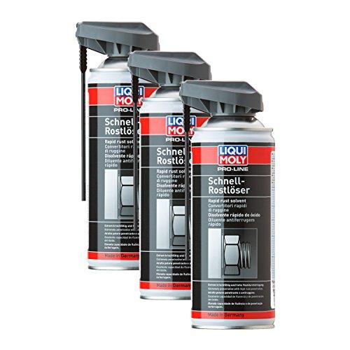 3x LIQUI MOLY 7390 Pro-Line Schnell-Rostlöser Spray Rust Remover 400ml