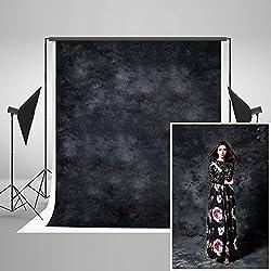 KateHome PHOTOSTUDIOS 1,5×2,2m Noir Photographie Abstraite Toile de Fond Noir Photo Fond Portrait Studio Props Microfibre Photo Studio