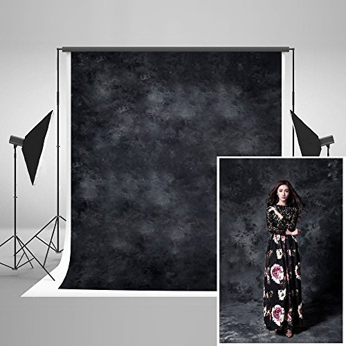 KateHome PHOTOSTUDIOS 1,5x2,2m Sfondo nero fotografico Fotografia Puntelli in cotone stampato Fondali per fotografi Photocall Fondali