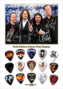 Metallica Design B Gold Guitar Médiator Pick Display (Limited to 50)