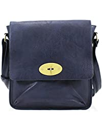 LeahWard Women's Cross Body Flap Handbags Faux Leather Shoulder Across Bag For Women Girls Mum's Tote Grab - Navy...