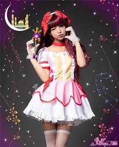 costume de cosplay costume d'Halloween anim?e Magical Girl Madoka Magika z1178 Rouge Blanc Rose (japon importation)