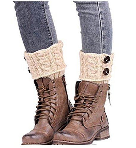HENGSONG Womens Winter Warm Soft Knitted Twist Leg Warmers Boot Socks Cuffs...
