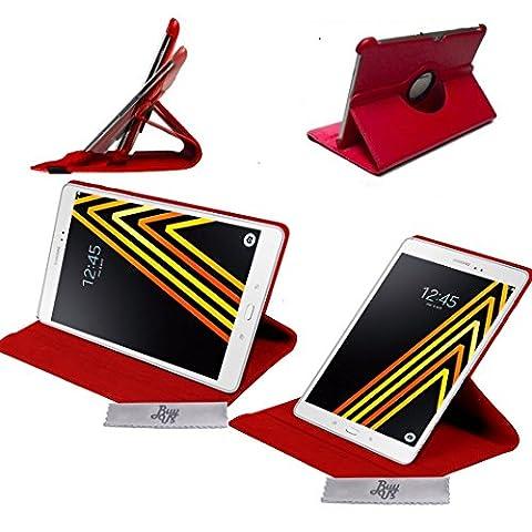 Etui Luxe Rouge Rotatif fonction Reveil/Sommeil Samsung Galaxy Tab A 10.1 2016 (SM-T580 \ SM-T585) (A6) + STYLET et FILM OFFERTS !