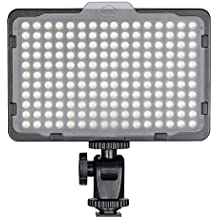 Bestter 176 LED Video Studio Light para Fotografía - Portátil Ultra Brillante Regulable con Montaje de Zapata Estándar de 1/4 de pulgada para Canon Nikon Sony y otras Cámaras DSLR Videocámaras