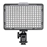 Followsun 176 LED auf Kamera Videoleuchte für Fotografie, 5500K Dimmbare Ultra Bright LED Panel mit 1/4-Zoll-Standard-Blitzschuh Halterung für Canon Nikon Pentax Sony und andere DSLR-Kameras und Camcorder