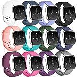 """Zekapu pour Fitbit Versa Bracelet, Fitbit Versa Bandes Remplacement TPU Sport Réglable Bracelet Accessoire pour Fitbit Versa, Petit (5.5""""- 7.1"""") 12 Pack"""