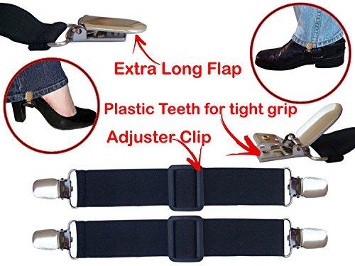 Motorrad Bikers elastischen verstellbar Kofferraum Hose Steigbügel Jod (begriffsklärung) Paar Clips (Boot-steigbügel)