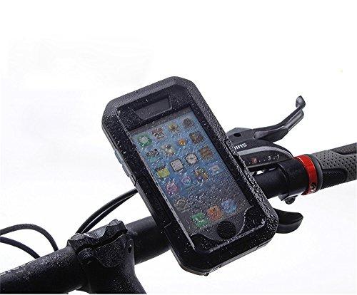iPhone 6/6S/7/8 Fahrrad Handyhalterung, Yidai-Silu【360°Drehbar,Sportarmband,Lenkertaschen】 Outdoor Case IPX8-Zertifikat Wasserdicht 10 Meter Tauchen Schutzhülle für iPhone 6/6S/7/8 4,7 Zoll - Schwarz