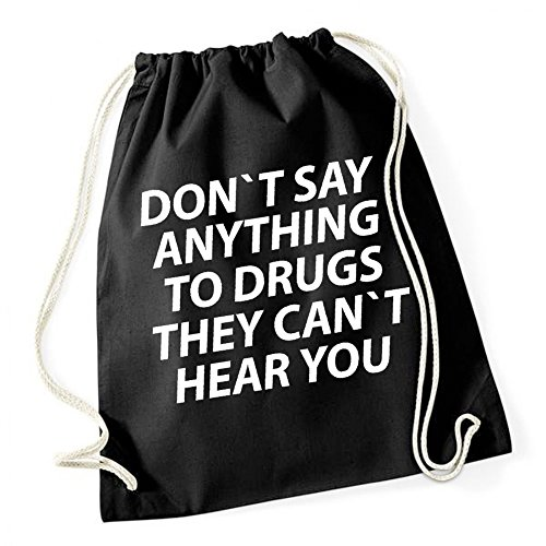 Don`t Say Anything To Drugs Borsa De Gym Nero Certified Freak