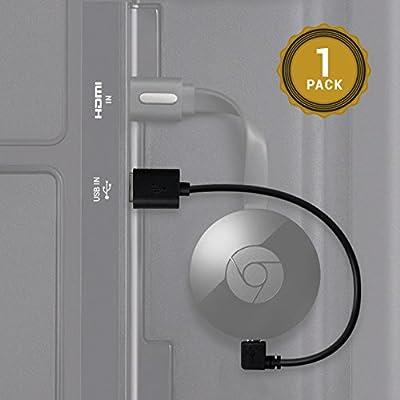 Câble USB Exinoz Chromecast – 20cm de Câble USB conçu pour alimenter votre Chromecast HDMI Streaming Media Player par le port USB de votre Télévision … de EXINOZ