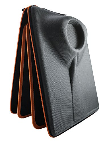 Camicia Uomo Viaggio Custodia Borsa Per Camicie Indumenti Per il Trasporto e in Viaggio di Camicie Senza Grinze in Valigia Con Inserto per Piegatura Bilaterale Regalo Per Gli Uomini Packshi Arancione