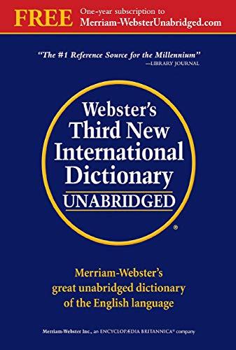 Webster\'s Third New International Dictionary, Unabridged
