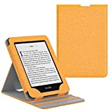 MoKo Kindle Paperwhite (10th Generation, 2018 Releases) Custodia, Copertura di Vibrazione Verticale Case per Amazon Kindle Paperwhite 2018 - Denim Giallo