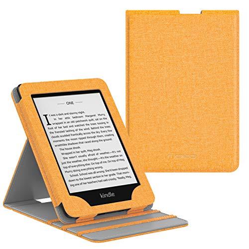 MoKo Kindle Paperwhite (10th Generation, 2018 Releases) Custodia, Copertura di Vibrazione Verticale Case per Amazon Kindle Paperwhite 2018 - Denim Giallo