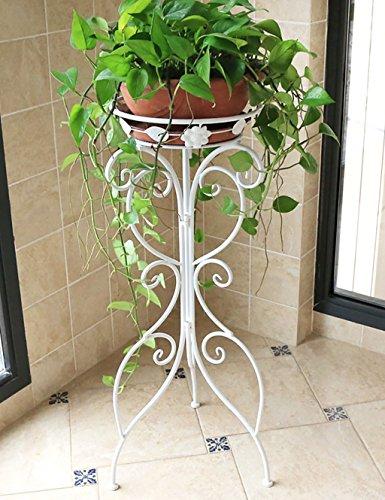 Plante blanc pot for Porte plante fer forge blanc