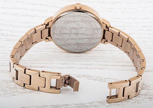 Esprit Damen-Armbanduhr Melanie Analog Quarz Edelstahl beschichtet ES108152003 - 4