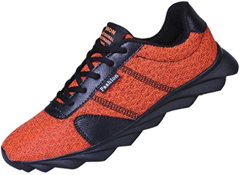 Sneaker Herren Mesh Schuhe Casual Sneakers Lace up Atmungsaktiv Sport Schuhe Freizeitschuhe Fitnessschuhe Laufschuhe