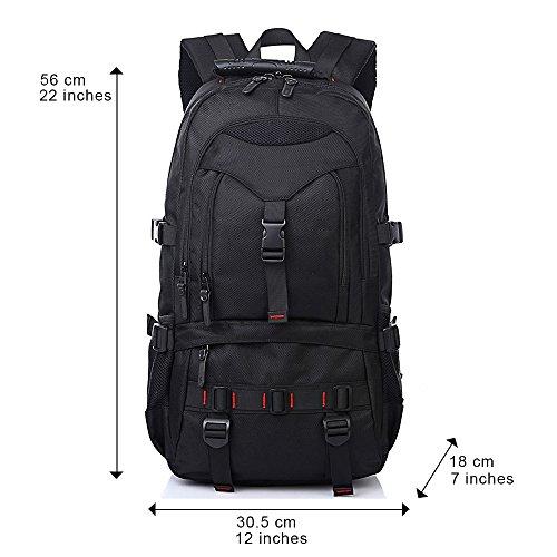 Rucksack Männer Laptop Rucksack Herren Tasche: Schultasche & Arbeitsrucksack mit Laptopfach für Notebooks bis 17 Zoll - Multifunktionsrucksack Business Look für Männer - Robuste Schultasche