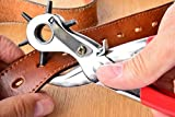 #10: Pindia 1Pc Revolving Belt Hole Punching Machine Leather Punching / Drilling Tool Hand Plier Tool With 6 Hole Sizes