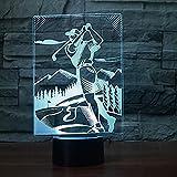 Illusion lampe de table cadeau cadeau pour enfants couleur 7 couleur golf homme style...