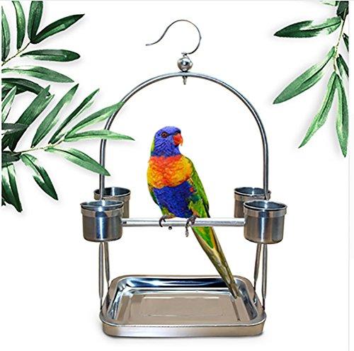 TUDIO Niedlich Glücklich Haustier Vogel Papagei Sittich Wellensittich Nymphensittich Käfig Hängematte Schaukel Spielzeug Hängende,L -