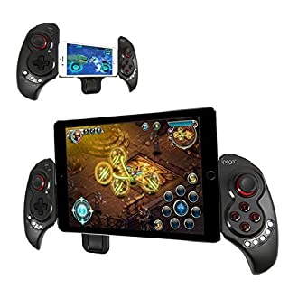 Datum Erweiterbar Gamepad Game Controller Tragbare Bluetooth Wireless Gamepad Joystick-Steuerung für Android Samsung Galaxy Note 3 S5 HTC Sony Xperia LG und iOS iPhone 6 5S 5C 5 iPad 5 4 iPod, Unterstützt bis zu 10
