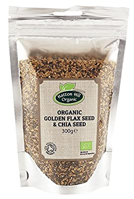 Organic Golden Flax & Chia Seeds 300g by Hatton Hill Organic - Certified Organic