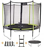 Kangui - Trampoline JUMPI POP + filet + échelle PVC + couverture de propreté + kit...