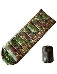 Temporada de dormir olayer, diseño de camuflaje, 3 sobre de relleno de algodón con