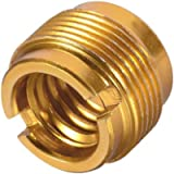 """Sourcingmap 3/8"""" Female To 5/8' Male Threaded Screw Adapter For Mic Stand Aluminium 1pcs"""