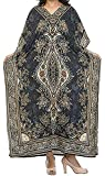 Ukal Women's Polyester Paisley Maxi Night Gown