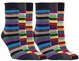 Vitasox 11940 Damen Socken Bambus Bambussocken Damensocken Ringelsocken ohne Gummi ohne Naht bunt Ringel 12 Paar 39/42