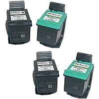 Cartuccia d'inchiostro Generico rigenerata in sostituzione di HP 337XL HP343XL (2x Nero, 2x Farbe, 4 (Rigenerata Sostituzione)