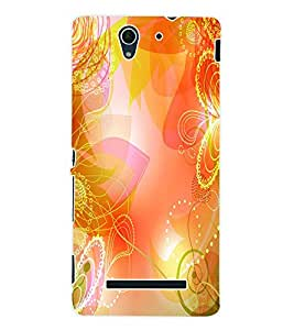 ColourCraft Floral Pattern Back Case Cover for SONY XPERIA C3 D2533