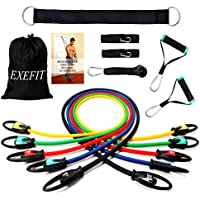 FITODO Resistance Band Strength Exercise Workouts 13-Set PRO with Door Anchor/Ankle Straps/Handles/Carry Bag/Instruction Book for Total Body Exercise