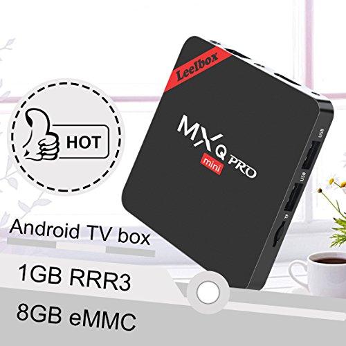 Leelbox MXQ PRO mini Android tv Box eingebaut mit NEUSTem S905x Chipsatz/Quad Core Prozesser/Kodi 16.1/Android 6.0/2.4G Wi-Fi/1GB Ram+8GB Flash unterstützt HDMI 2.0 beide 4Kx2K und 3D Effekt updaten von mxq pro Streaming-Clients - 3