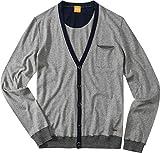 BOSS Orange Herren Cardigan Jacke Uni & Uninah, Größe: S, Farbe: Grau