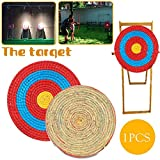 ningxiao586 Bogen Bogenschießen-Ziel, Runde Strohscheibe Coiled Archery Straw Target, Outdoor Sports Bogenschießen Bogen Schießen Darts