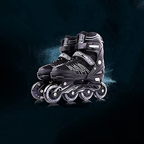 Crayom Hohe Qualität Sichere Skates erwachsene erwachsene Skating Rollschuhen Kinder voller Satz von Männern und Frauen im Einklang mit Anfängern Können angepasst werden Skater Schuhe drei Farben ( Color : Black , Size : S )