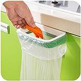 Silvercolor, porta sacchetto dell'immondizia, per mobile da cucina, pratico supporto per borse e sacchetti, facile da montare, si appende all'anta del mobile