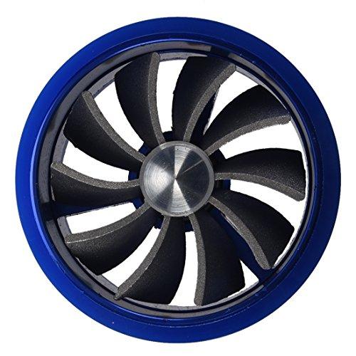 Compressore - SODIAL(R) Turbo ventola di aspirazione del combustibile del risparmiatore Fan - Blu