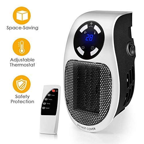 Heroic Smart Space Heater Portable 500W Handy Mini Heater for Office Home White EU Plug With Remote
