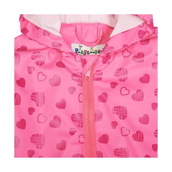 Playshoes Regen-Overall Herzchen Allover Pantalones Impermeable para Bebés 4